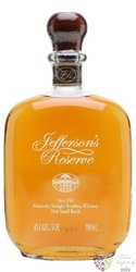 "Jefferson´s "" Reserve "" very small batch Kentucky straight bourbon whiskey 45% vol.   0.70 l"