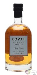 "Koval "" Four grain "" Single barrel Illinois whiskey 47% vol.  0.50 l"