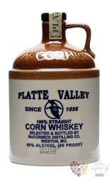 Platte Valley Illinois straight corn whiskey by McCormick 40% vol.  0.20 l