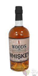 "Woods "" Tenderfood "" single malt Us whiskey by High Mountain distillery 45% vol.   0.70 l"