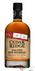 Cedar Ridge Iowa malted rye whiskey 43% vol.  0.70 l
