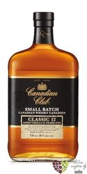 "Canadian Club "" Small batch classic "" aged 12 years Canadian whisky 40% vol.   1.00 l"