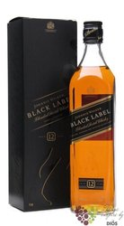 "Johnnie Walker "" Black label "" 12 years old premium blended Scotch whisky 40% vol.   0.375 l"