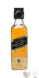 "Johnnie Walker "" Black label "" 12 years old premium blended Scotch whisky 40% vol.   0.20 l"
