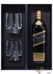 "Johnnie Walker Blue label "" 200th Anniversary "" 2 glass set Scotch whisky 40% vol. 0.70 l"