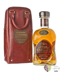 Cardhu 12 years old leather bag single malt speyside Scotch whisky 40% vol.  0.70 l