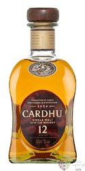 Cardhu 12 years old single malt Speyside Scotch whisky 40% vol.  0.20 l