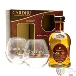 Cardhu 12 years old glass pack 2015 single malt Speyside Scotch whisky 40% vol.0.70 l