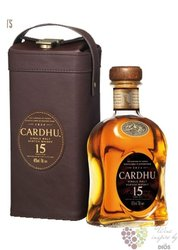 Cardhu 15 years old leather box single malt Speyside Scotch whisky 40% vol.    0.70 l