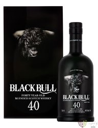 Black Bull 40 years old blended malt Scotch whisky by Duncan Taylor 47.6% vol.0.70 l