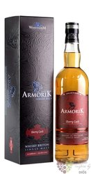 "Armorik "" Sherry cask "" French single malt whisky by distillerie Warenghem 40% vol.  0.70 l"