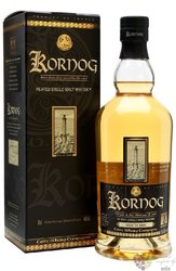 "Kornog "" Roch Hir "" French Peated single malt whisky by Glann Ar Mor 46% vol.  0.70 l"