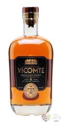 "Vicomte "" Cognac cask "" aged 8 years French single malt whisky 40% vol.  0.70 l"