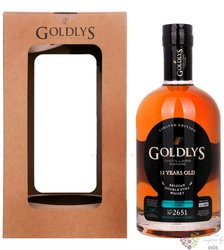 "Goldlys "" Distillers range - bourbon cask finish "" aged 12 years Belgian whisky43% vol.   0.70 l"
