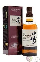 "Yamazaki "" Distiller´s reserve "" single malt Japanese whisky by Suntory 43% vol.  0.70 l"