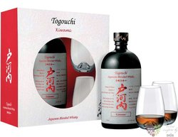 "Togouchi "" Kiwami "" 2glass set of blended Japanese whisky 40% vol.  0.70 l"