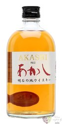 "Akashi "" Red "" blended Japanese whisky by White oak distillery 40% vol.  0.50 l"