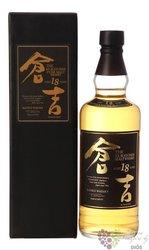 Kurayoshi 18 years pure malt Japanese whisky by Matsui Shuzou 50% vol.  0.70 l