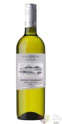 """Muškát moravský """" Standard line """" 2015 jakostní odrůdové víno Mikrosvín Mikulov0.75 l"""