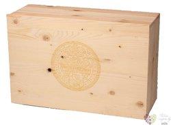 Dřevěná dárková kazeta na dvanáct lahví vinařství Mikrosvín Mikulov