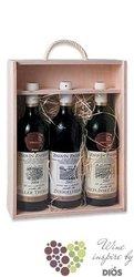 Dřevěná bedýnka na 3 lahve s mitivy vinařství Znovín Znojmo
