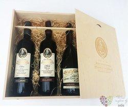 Šlechtitelka dřevěná krabička na tři lahve vína 0.75 l