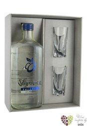 Slivovica 2glass Moravian fruits brandy by distillery Žufánek 50% vol. 0.50 l